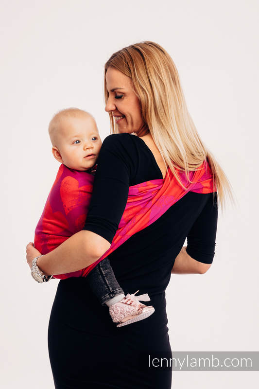 Ringsling, Jacquard Weave (100% cotton) - with gathered shoulder - LOVKA MY VALENTINE #babywearing