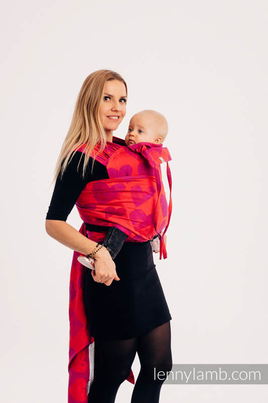WRAP-TAI carrier Mini with hood/ jacquard twill / 100% cotton - LOVKA MY VALENTINE #babywearing