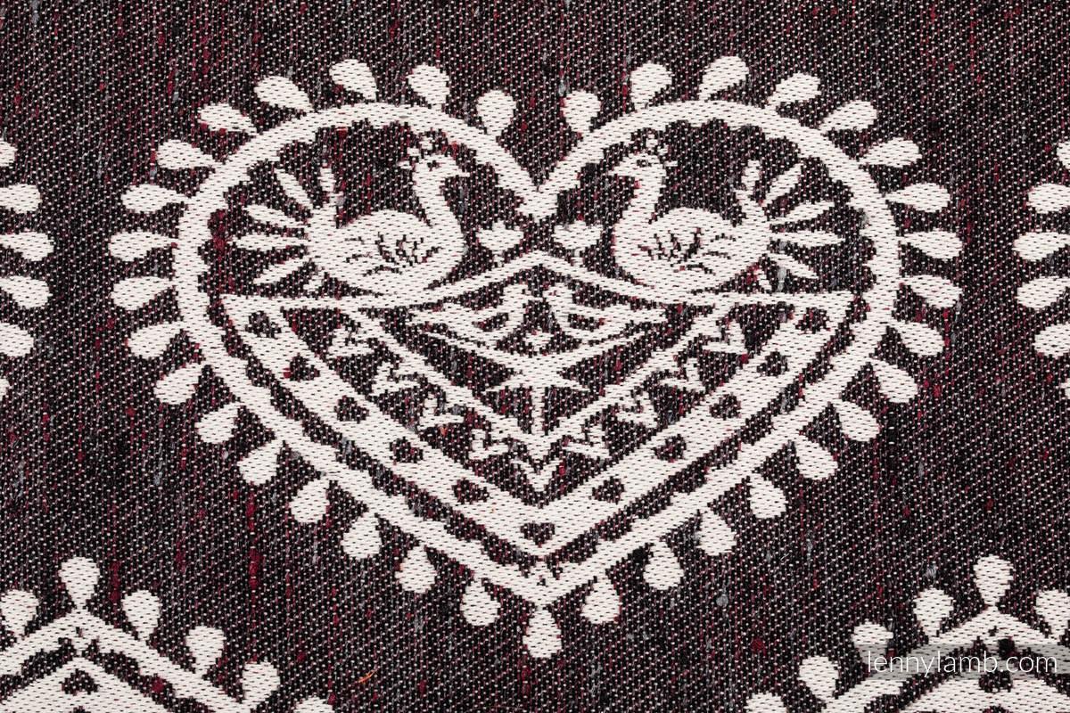 Tragetuch, Jacquardwebung (74% Baumwolle, 26% Seide) - FOLK HEARTS - NOSTALGIA - Größe M #babywearing