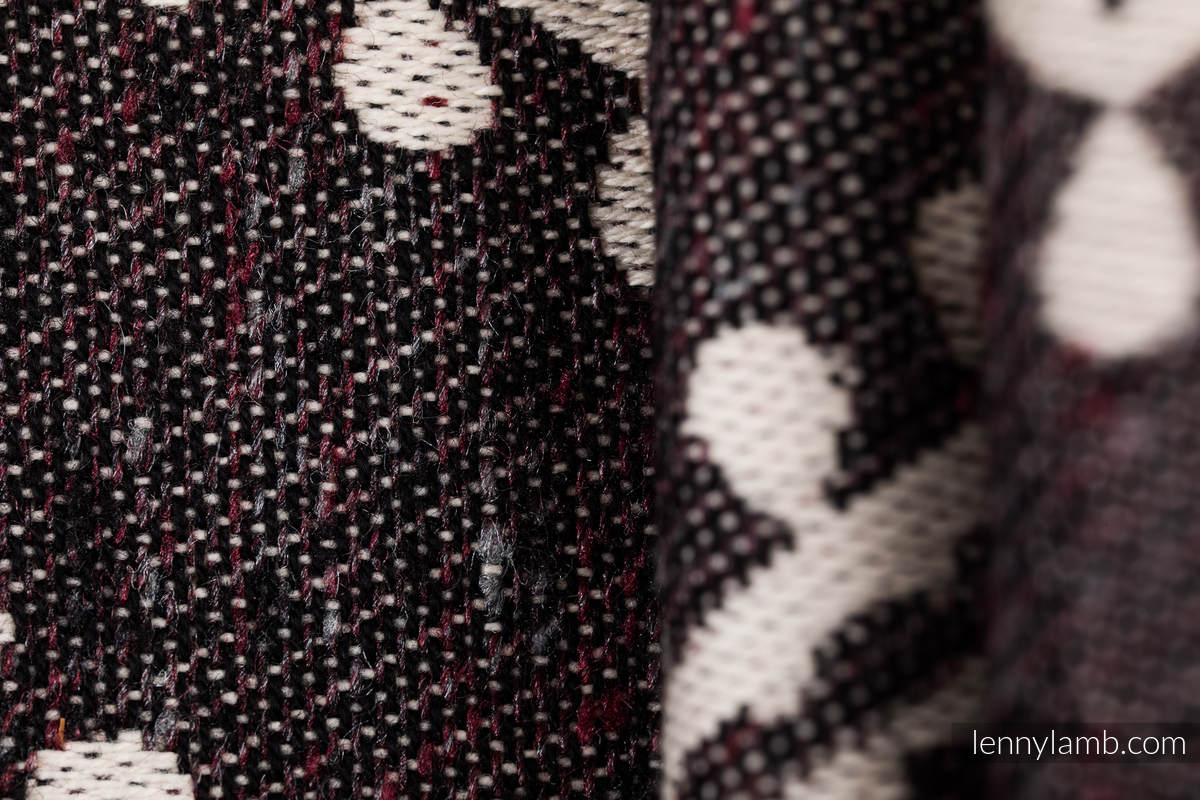 Żakardowa chusta do noszenia dzieci, 74% Bawełna 26% Jedwab - FOLKOWE SERCA - NOSTALGIA - rozmiar S #babywearing