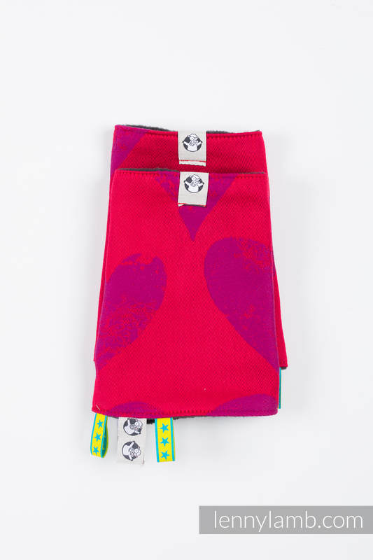 Drool Pads & Reach Straps Set, (60% cotton, 40% polyester) - LOVKA MY VALENTINE #babywearing