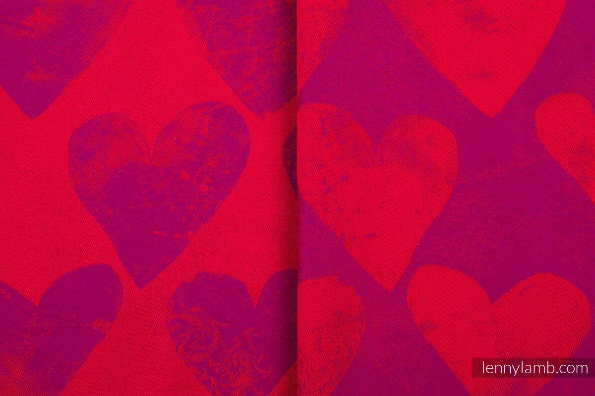 Baby Wrap, Jacquard Weave (100% cotton) - LOVKA MY VALENTINE - size XS #babywearing