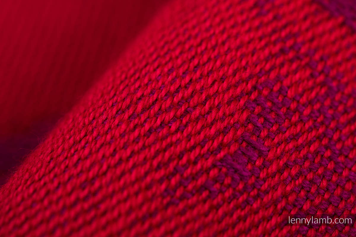 Tragetuch, Jacquardwebung (100% Baumwolle) - LOVKA MY VALENTINE - Größe L (grad B) #babywearing