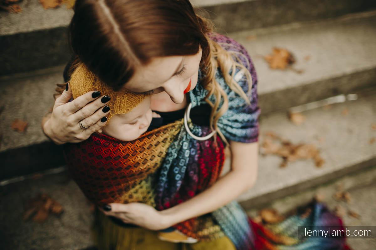 Ringsling, Jacquard Weave (100% cotton) - NOVA - Carre SZYMON - long 2.1m #babywearing