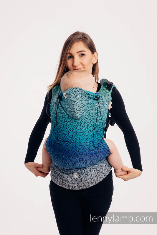 Ergonomic Carrier, Baby Size, jacquard weave 100% cotton - BIG LOVE ECHO - Second Generation #babywearing