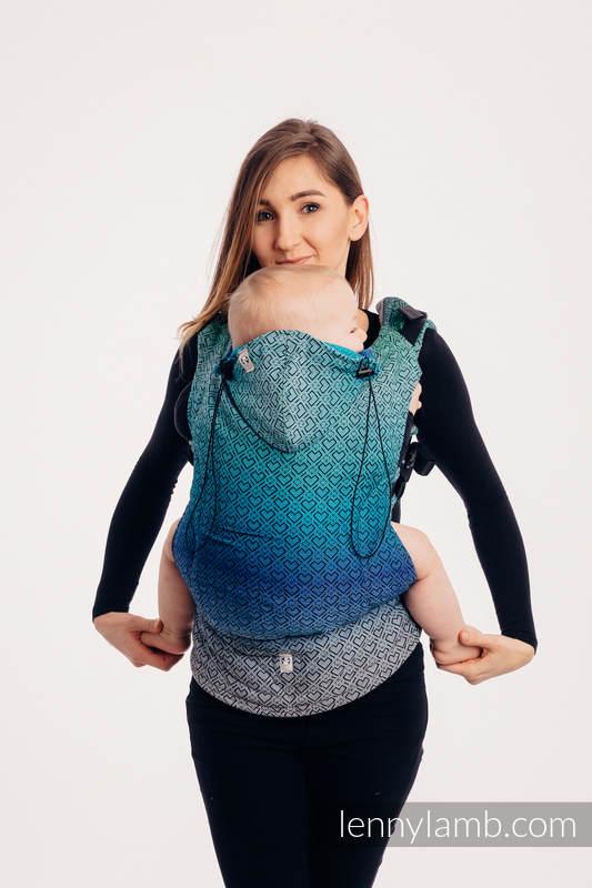 Nosidełko Ergonomiczne z tkaniny żakardowej 100% bawełna , Baby Size, BIG LOVE ECHO - Druga Generacja #babywearing