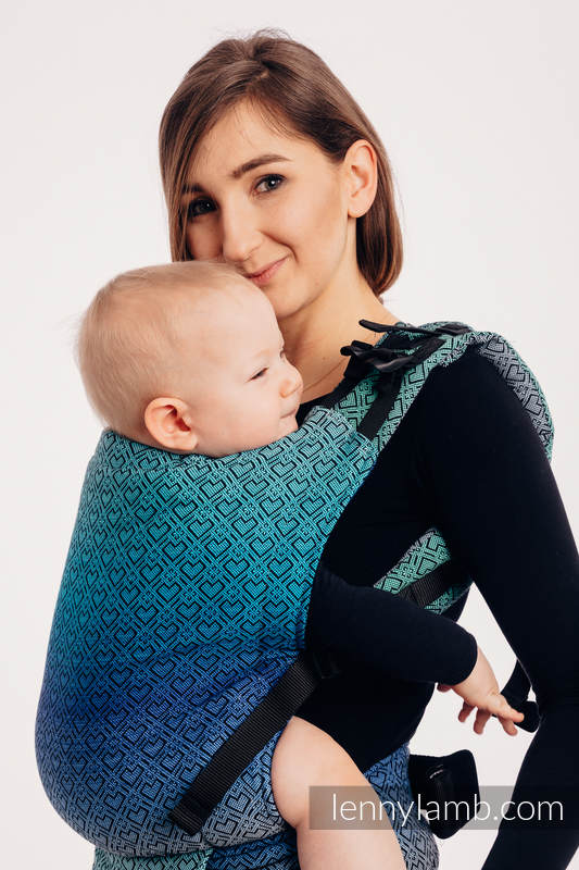 LennyUp Carrier, Standard Size, jacquard weave 100% cotton - BIG LOVE ECHO #babywearing