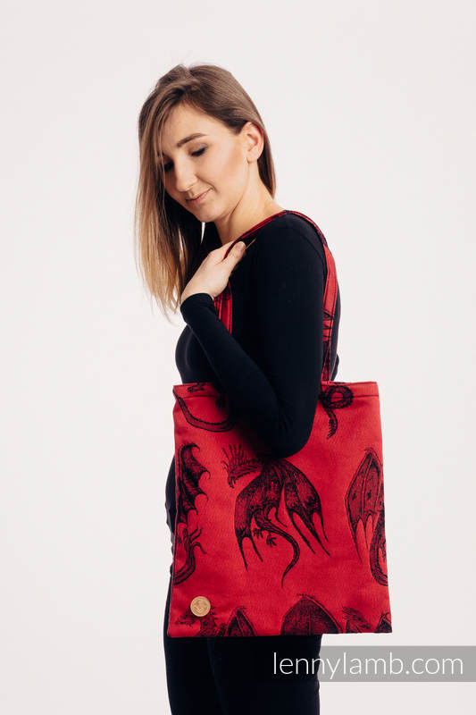 Shopping bag made of wrap fabric (100% cotton) - DRAGON - FIRE AND BLOOD #babywearing