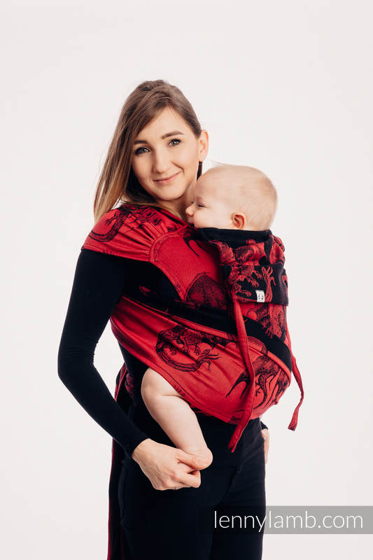 WRAP-TAI carrier Mini with hood/ jacquard twill / 100% cotton - DRAGON - FIRE AND BLOOD (grade B) #babywearing