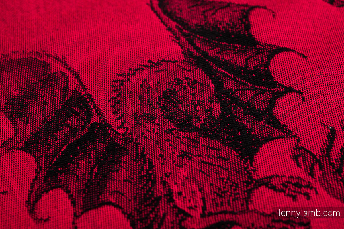 Baby Wrap, Jacquard Weave (100% cotton) - DRAGON - FIRE AND BLOOD - size XS #babywearing