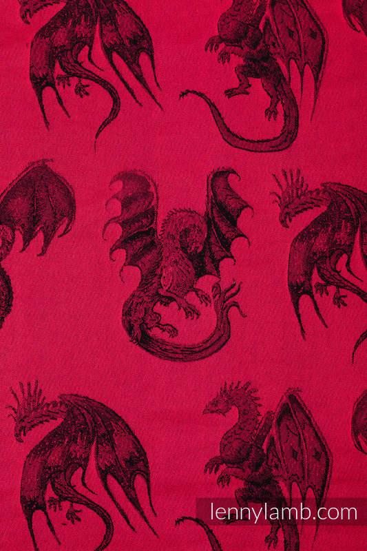 Mochila portamuñecos hecha de tejido, 100% algodón - DRAGON - FIRE AND BLOOD #babywearing