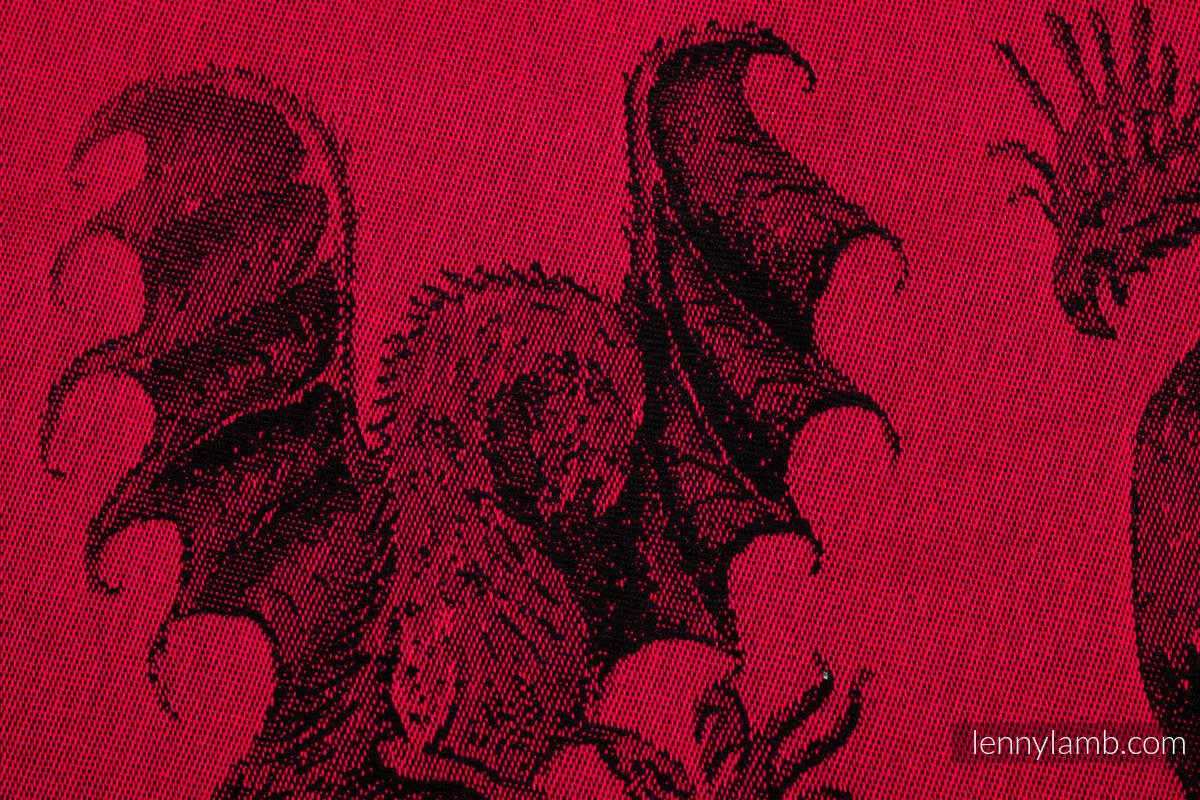 Żakardowa chusta do noszenia dzieci, bawełna - DRAGON - OGIEŃ I KREW - rozmiar M #babywearing