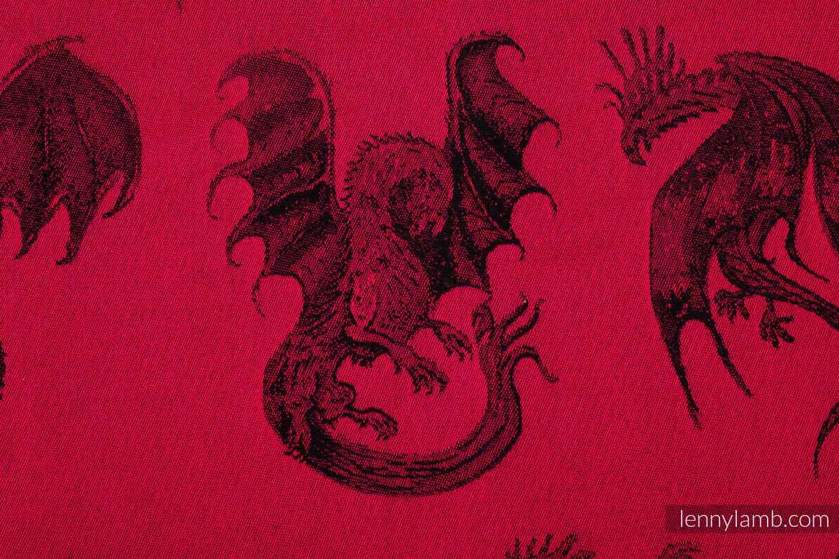 Żakardowa chusta do noszenia dzieci, bawełna - DRAGON - OGIEŃ I KREW - rozmiar S (drugi gatunek) #babywearing
