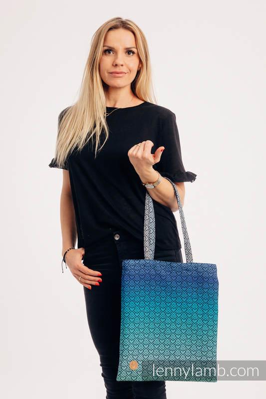 Bolsa de la compra hecho de tejido de fular (100% algodón) - BIG LOVE ATMOSPHERE  #babywearing