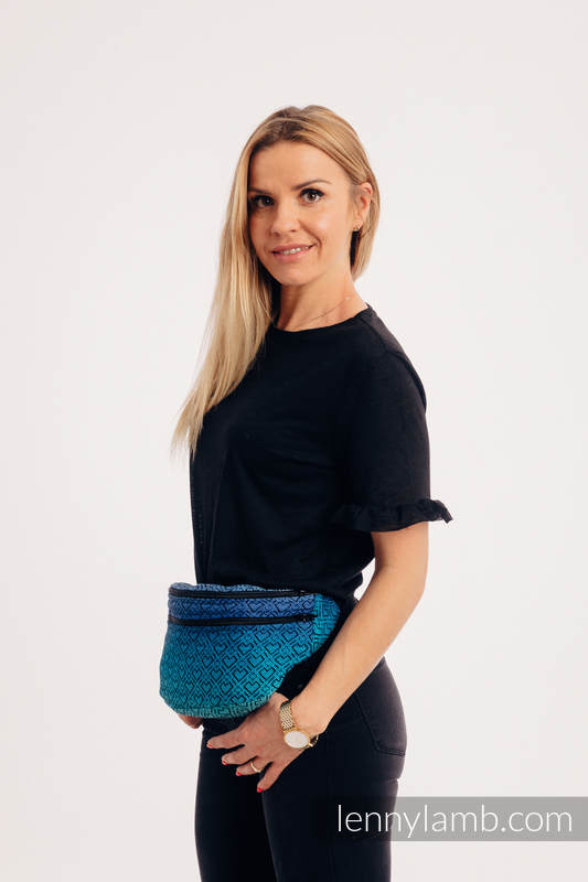 Waist Bag made of woven fabric, size large (100% cotton) - BIG LOVE ATMOSPHERE  #babywearing