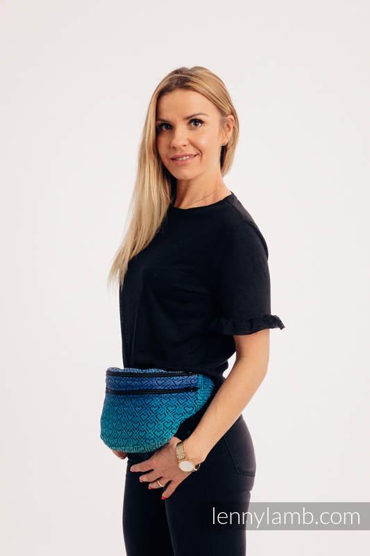 Riñonera hecha de tejido de fular, talla grande (100% algodón) - BIG LOVE ATMOSPHERE  #babywearing