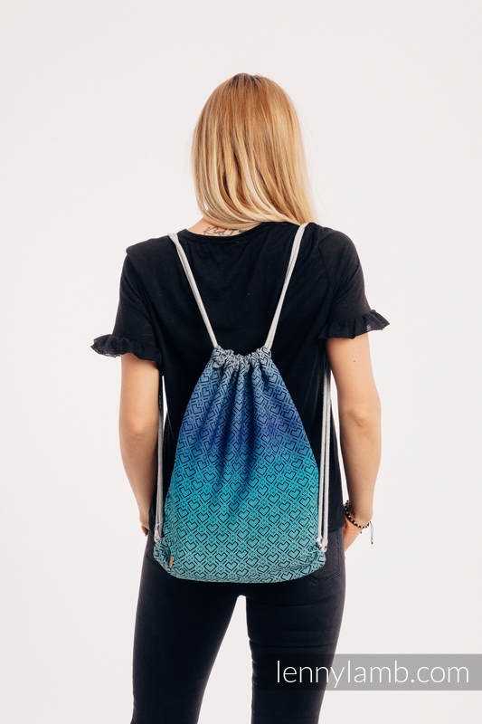 Sackpack made of wrap fabric (100% cotton) - BIG LOVE ATMOSPHERE - standard size 32cmx43cm #babywearing