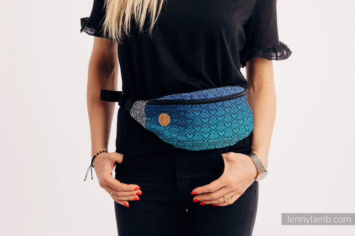 Waist Bag made of woven fabric, (100% cotton) - BIG LOVE ATMOSPHERE  #babywearing