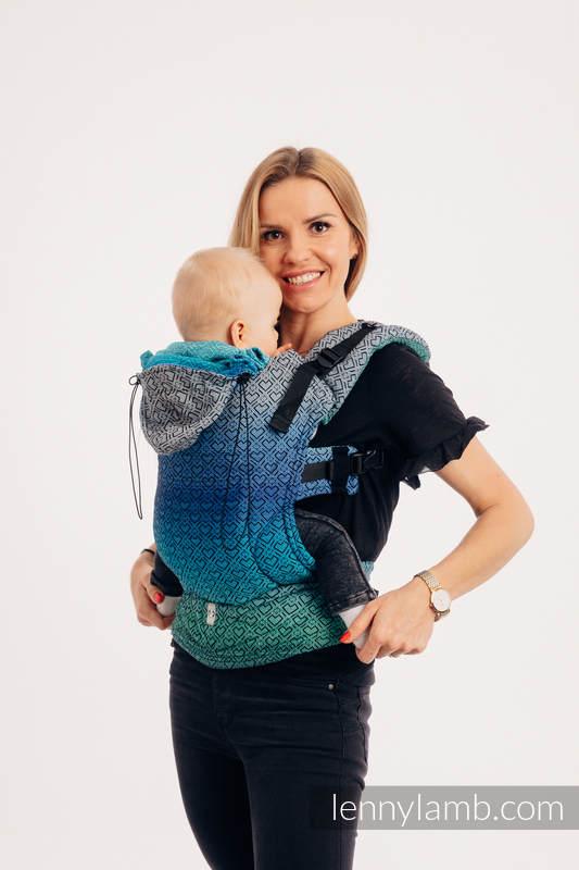 Nosidełko Ergonomiczne z tkaniny żakardowej 100% bawełna , Baby Size, BIG LOVE ATMOSFERA - Druga Generacja #babywearing