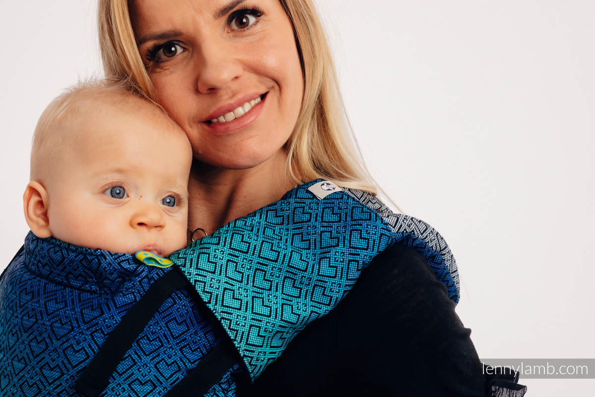 LennyUp Carrier, Standard Size, jacquard weave 100% cotton - BIG LOVE ATMOSPHERE  #babywearing