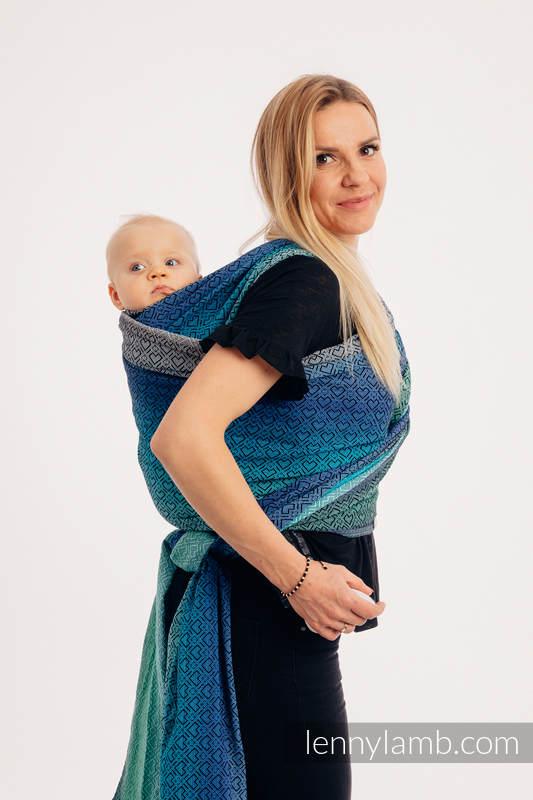 Tragetuch, Jacquardwebung (100% Baumwolle) - BIG LOVE ATMOSPHERE - Größe S (grad B) #babywearing