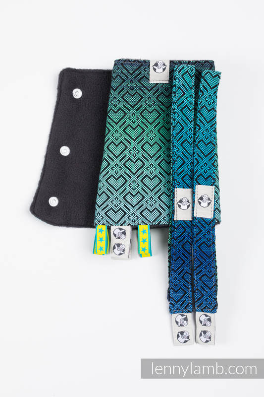 Drool Pads & Reach Straps Set, (60% cotton, 40% polyester) - BIG LOVE ATMOSPHERE  #babywearing