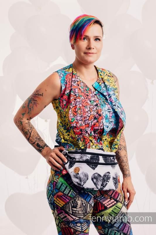 Riñonera hecha de tejido de fular, talla grande (100% algodón) - LOVKA CLASSIC  #babywearing