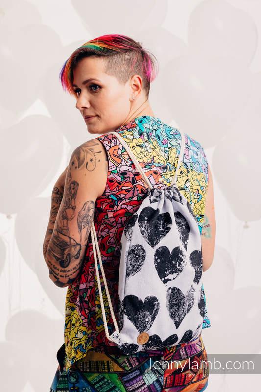 Mochila portaobjetos hecha de tejido de fular (100% algodón) - LOVKA CLASSIC  - talla estándar 32cmx43cm #babywearing