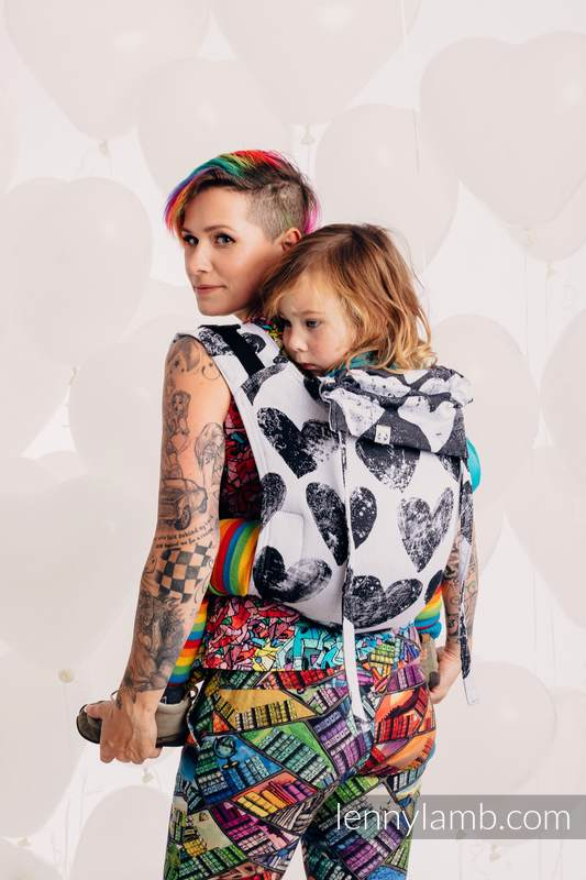 Lenny Buckle Onbuhimo, toddler size, jacquard weave (100% cotton) - LOVKA CLASSIC #babywearing