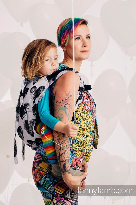 Onbuhimo de Lenny, taille toddler, jacquard (100% coton) - LOVKA CLASSIC  #babywearing