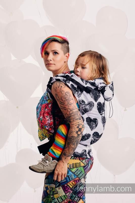 Nosidełko Ergonomiczne z tkaniny żakardowej 100% bawełna , Baby Size, LOVKA KLASYCZNA - Druga Generacja #babywearing