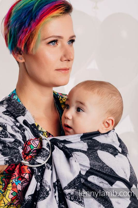 Ringsling, Jacquard Weave (100% cotton) - with gathered shoulder - LOVKA CLASSIC   - long 2.1m #babywearing