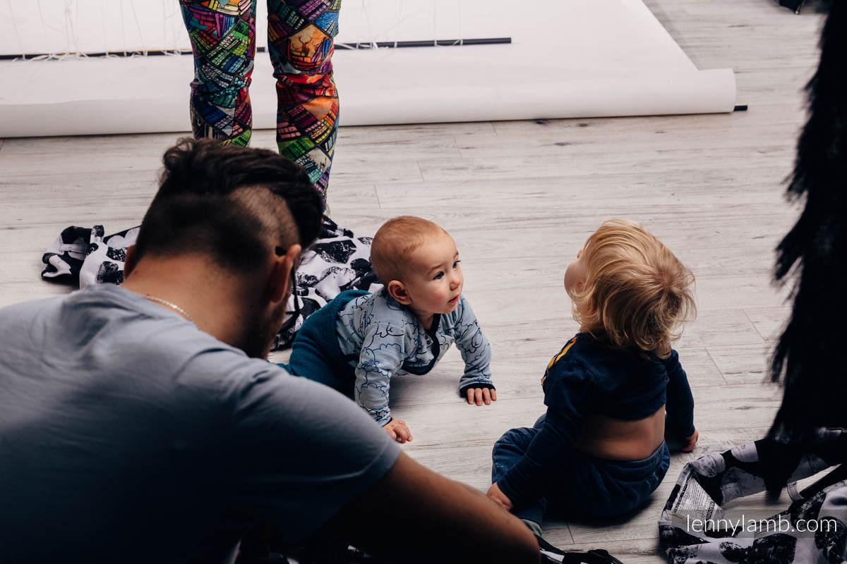 WRAP-TAI portabebé Mini con capucha/ jacquard sarga/100% algodón - LOVKA CLASSIC  #babywearing