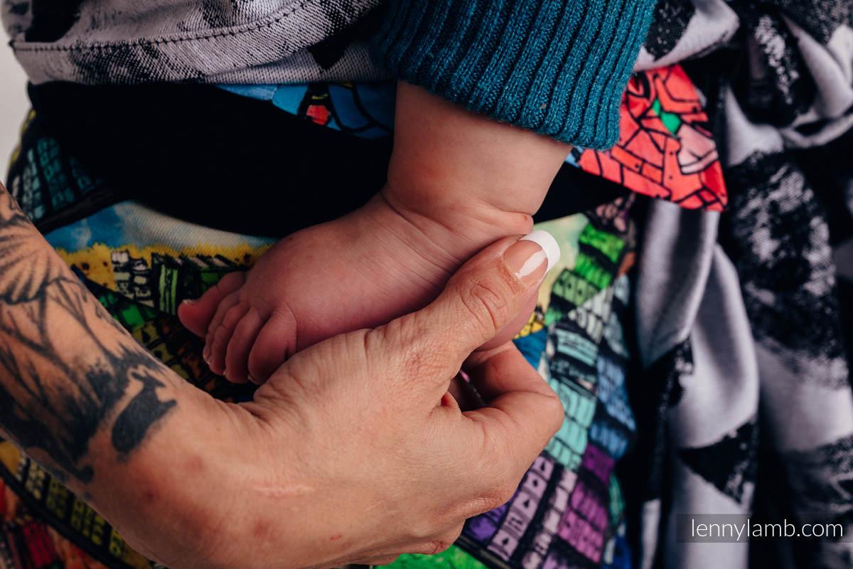 Baby Wrap, Jacquard Weave (100% cotton) - LOVKA CLASSIC  - size XS #babywearing
