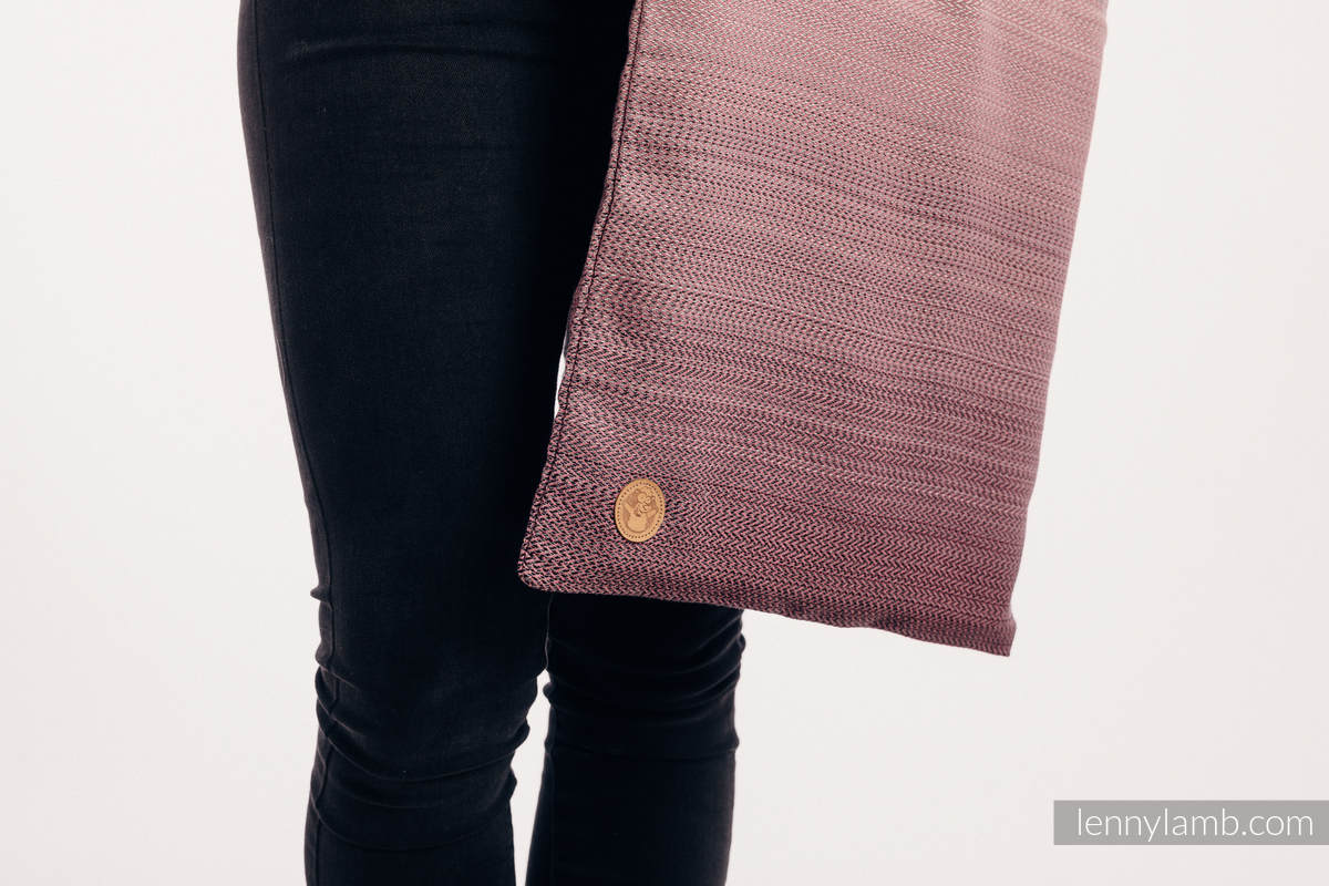Shopping bag made of wrap fabric (100% cotton) - LITTLE HERRINGBONE OMBRE PINK #babywearing