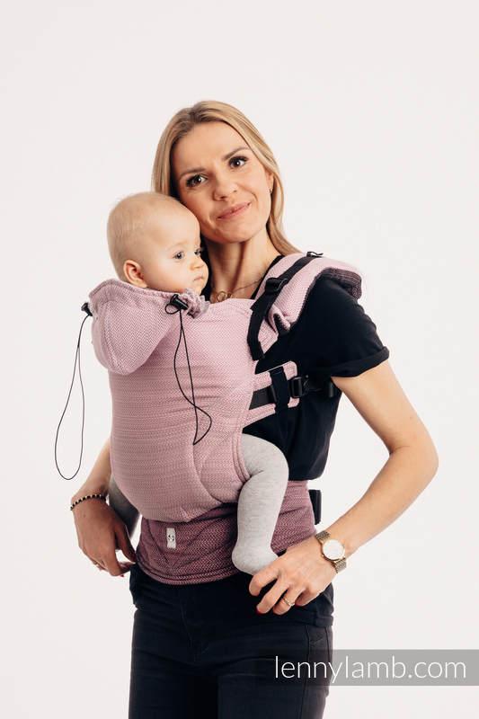 Nosidełko Ergonomiczne , splot jodełkowy, 100% bawełna , Toddler Size, MAŁA JODEŁKA OMBRE RÓŻ - Druga Generacja #babywearing