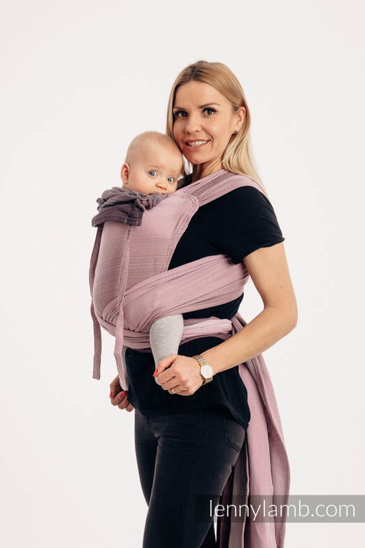WRAP-TAI carrier Toddler with hood/ herringbone twill / 100% cotton / LITTLE HERRINGBONE OMBRE PINK #babywearing