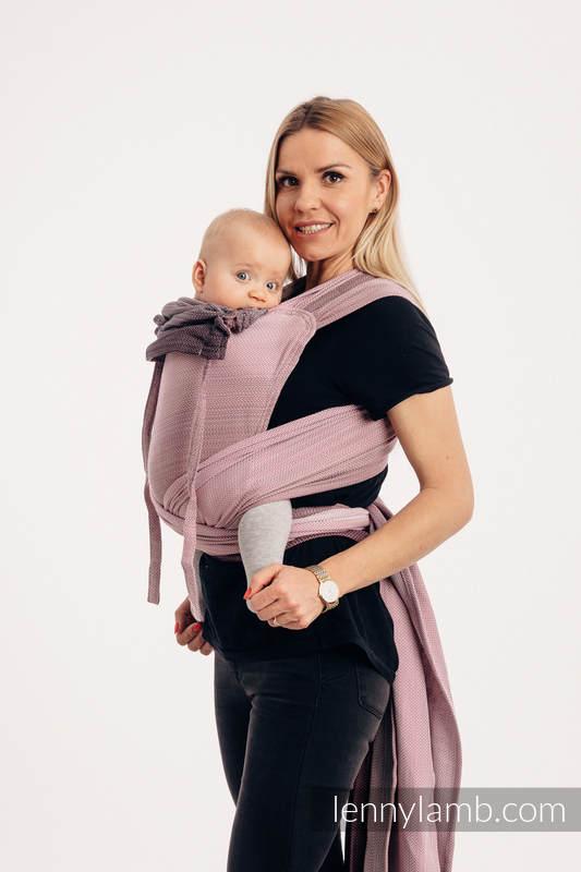 WRAP-TAI carrier Mini with hood/ herringbone twill / 100% cotton / LITTLE HERRINGBONE OMBRE PINK #babywearing