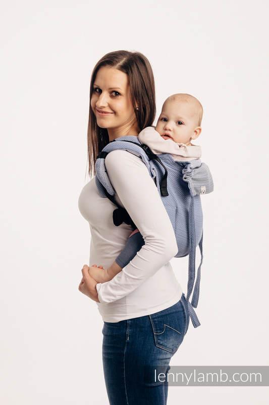 Onbuhimo SAD LennyLamb, talla estándar, tejido espiga (100% algodón) - LITTLE HERRINGBONE OMBRE BLUE  #babywearing