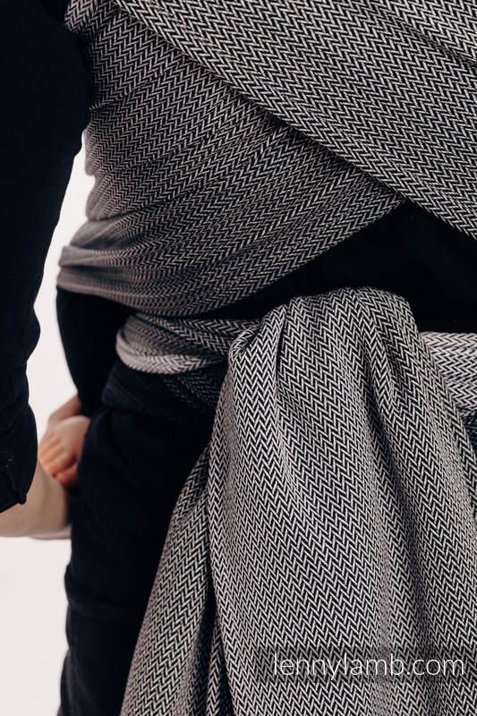 WRAP-TAI carrier Toddler with hood/ herringbone twill / 100% cotton / LITTLE HERRINGBONE OMBRE GREY  #babywearing