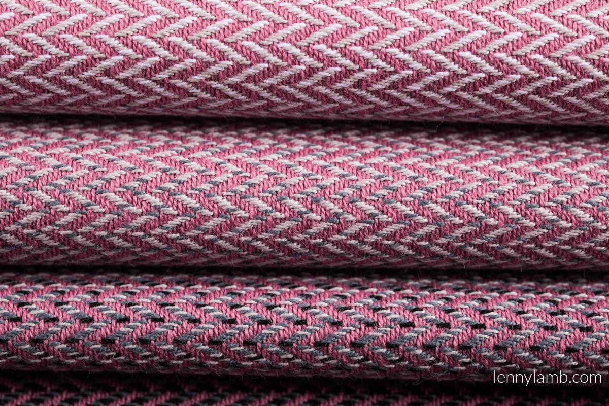 Baby Wrap, Herringbone Weave (100% cotton) - LITTLE HERRINGBONE OMBRE PINK - size XS #babywearing