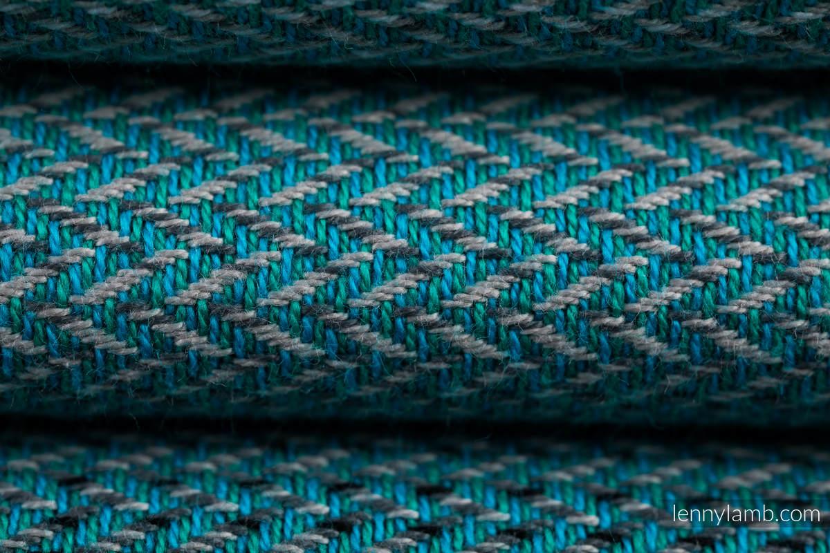 Baby Wrap, Herringbone Weave (100% cotton) - LITTLE HERRINGBONE OMBRE TEAL - size XL #babywearing
