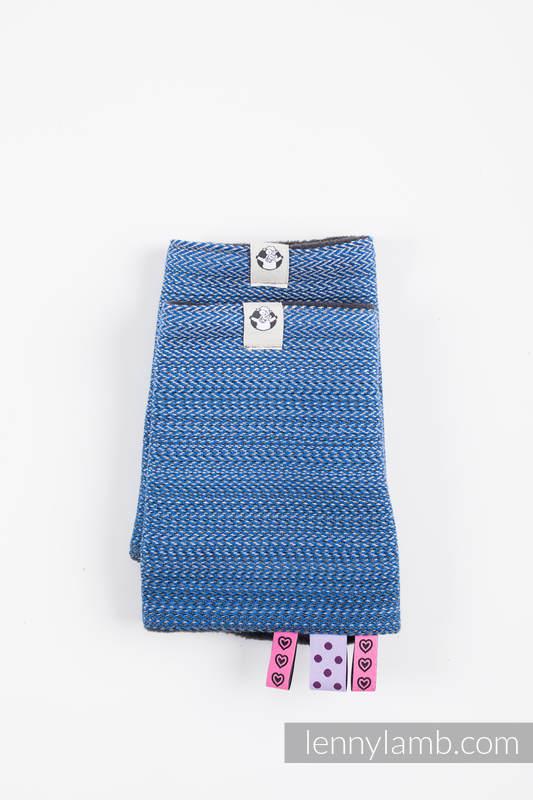 Ensemble protège bretelles et sangles pour capuche (60% coton, 40% polyester) - LITTLE HERRINGBONE OMBRE BLUE  #babywearing