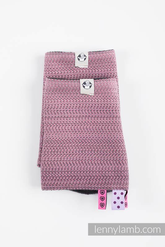 Schultergurtschoner (60% Baumwolle, 40% poliester) - LITTLE HERRINGBONE OMBRE PINK #babywearing