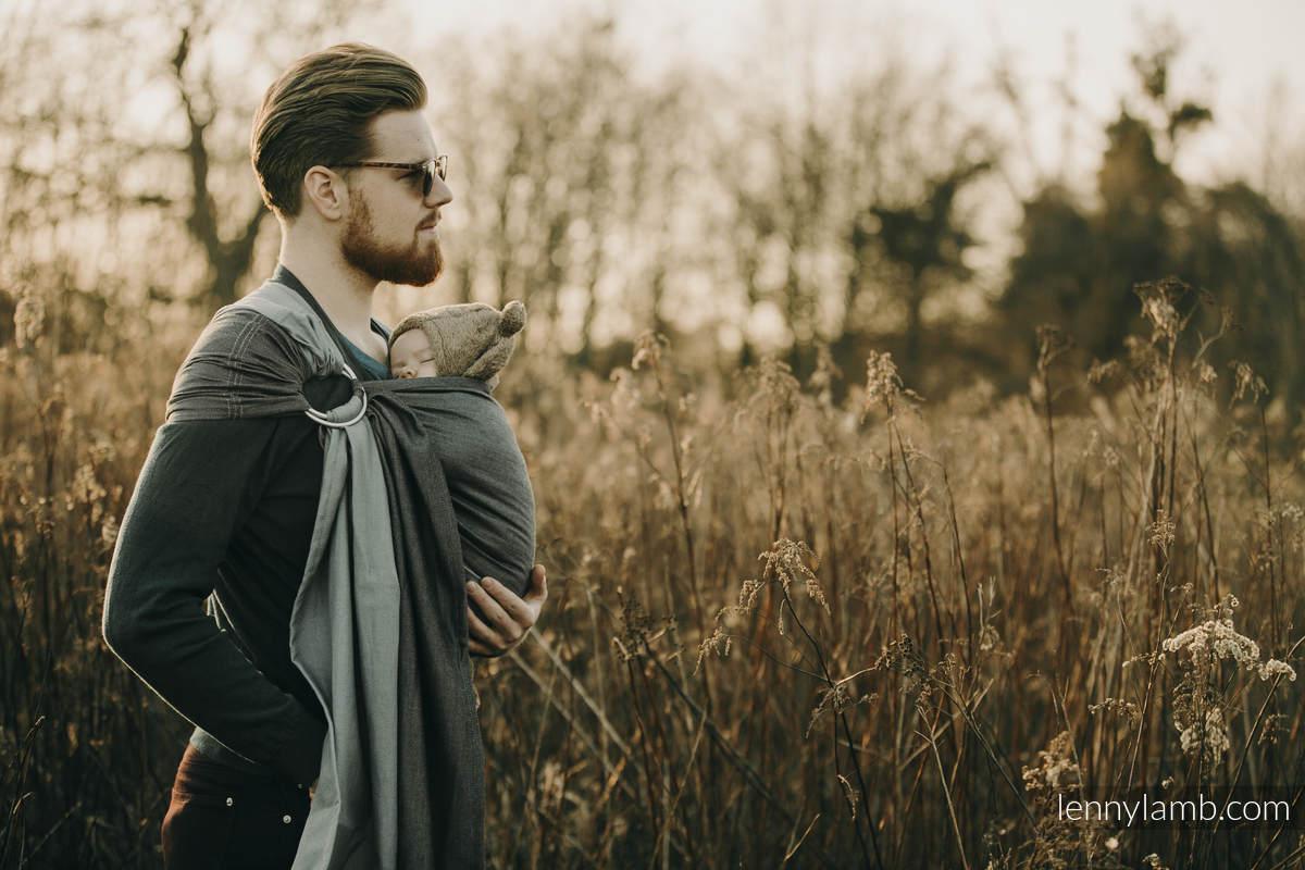 Ringsling, Broken twill Weave (100% cotton), with gathered shoulder - size 1,8 - NOVA - SUPERNOVA #babywearing