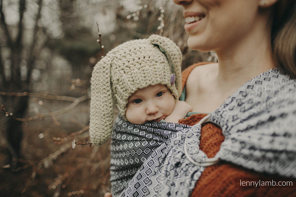 RingSling, Jacquardwebung (100% Baumwolle) - NOVA - CARRE ZOSIA - standard 1.8m #babywearing
