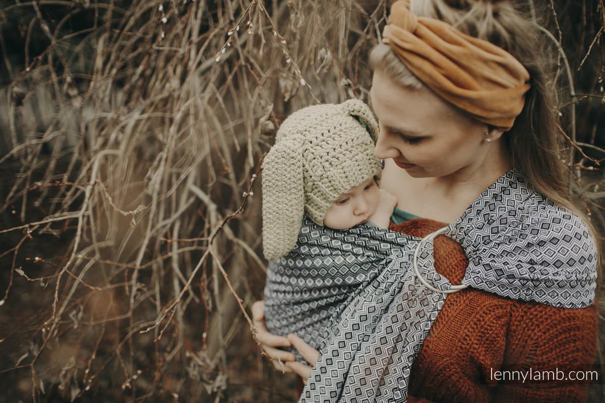 Ringsling, Jacquard Weave (100% cotton), with gathered shoulder - NOVA - CARRE ZOSIA - standard 1.8m #babywearing