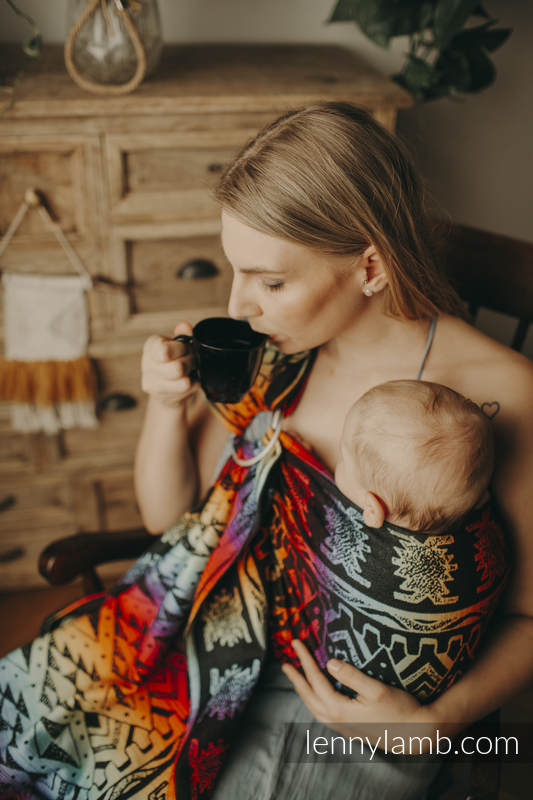 Ringsling, Jacquard Weave (100% cotton) - with gathered shoulder - NOVA - Inkas MAJA - long 2.1m #babywearing