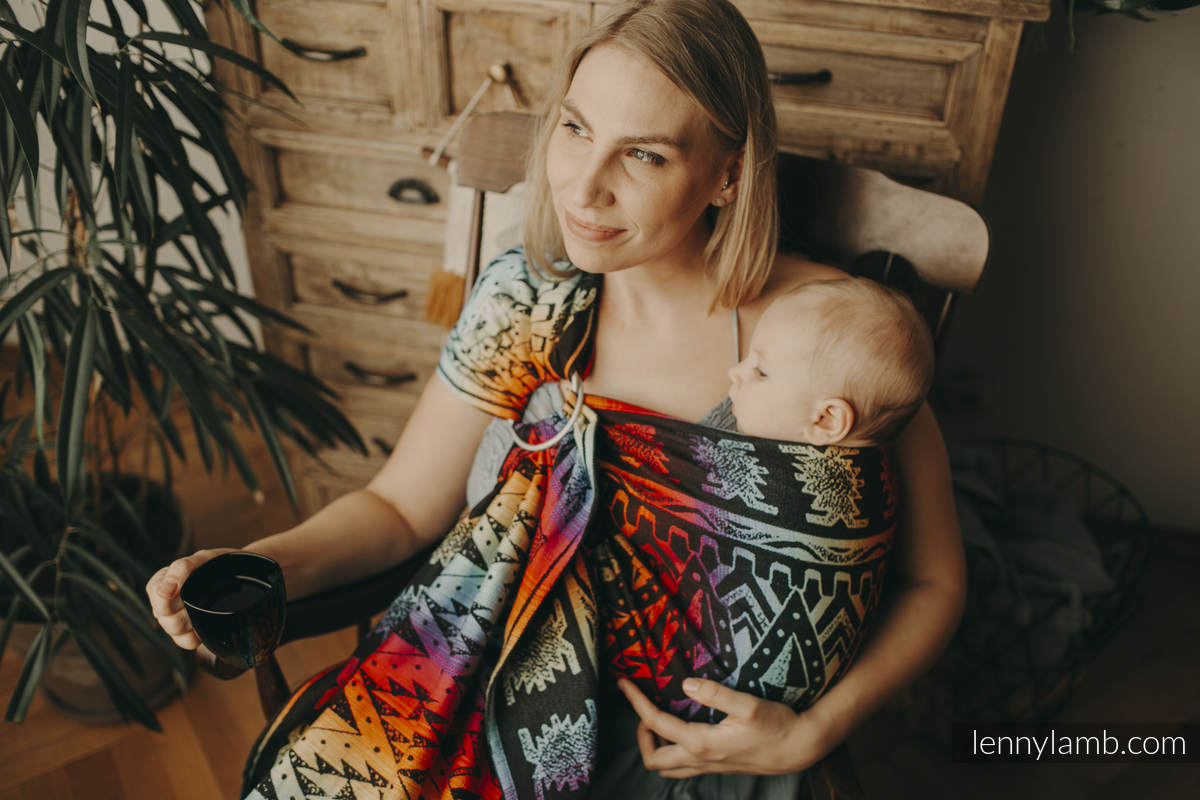 Ringsling, Jacquard Weave (100% cotton) - with gathered shoulder - size 1,8m - NOVA - Inkas MAJA #babywearing