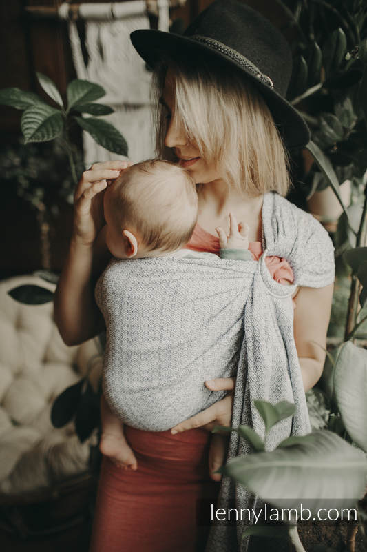 Ringsling, Jacquard Weave (100% cotton) - with gathered shoulder -  NOVA - LittleLove KUBA - long 2.1m #babywearing